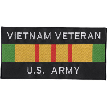 Army Vietnam Veteran Ribbon Large Back Patch