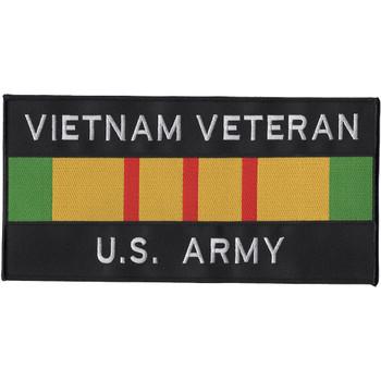 Army Vietnam Veteran Ribbon Large Back Patch