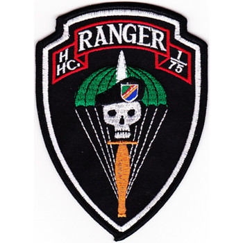 H Hc Company 1st Battalion 75th Ranger Regiment Patch