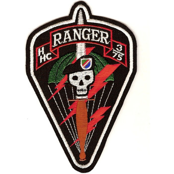 H Hc 3/75 3rd Battalion 75th Ranger Regiment Patch