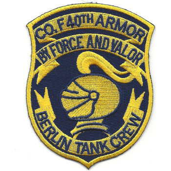 Co F 40th Armor Regiment Berlin Tank Crew Patch