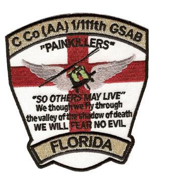 Co C 1st Battalion 111th GSAB Aviation Battalion Patch