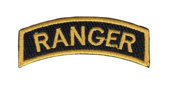 Army Ranger Rocker Black Field Patch