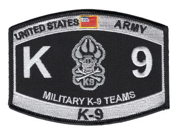 ARMY K-9 TEAMS Military Occupation Specialty Patch