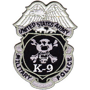 ARMY-K-9 Military Police Badge Patch