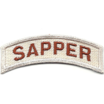 Army Engineers Sapper Rocker Desert Patch