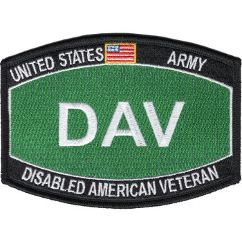 Army DAV Disabled American Veteran Army MOS Parch