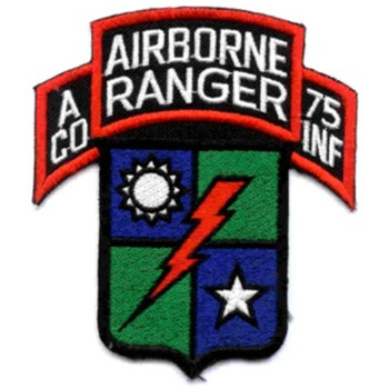 A Company 75th Infantry Airborne Rangers Patch