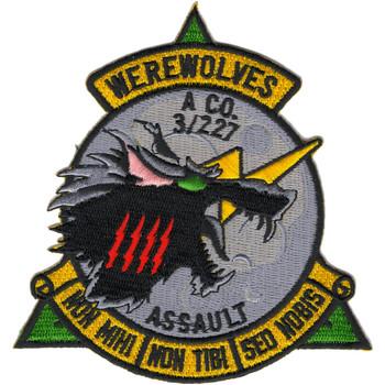 A Company 3rd Battalion 227th Aviation Assault Regiment WEREWOLVES Patch