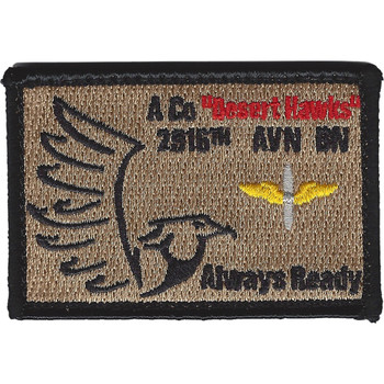 A Company 2916th Aviation Battalion Desert Hawks Patch Hook And Loop