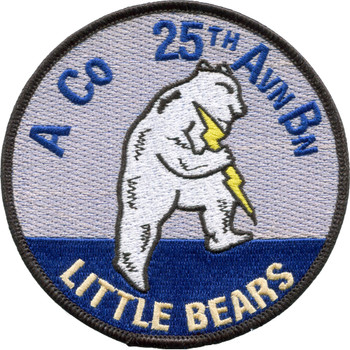 A Company 25th Aviation Battalion Patch Little Bears
