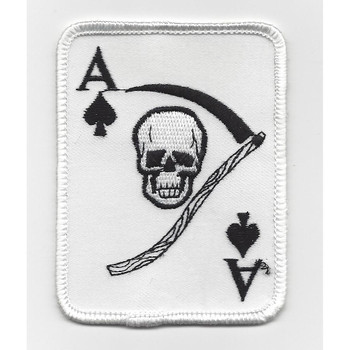 Ace of Spades Death Card Vietnam War Era Patch