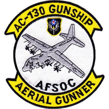 AC-130 Gunship Aerial Gunner AFSOC Patch