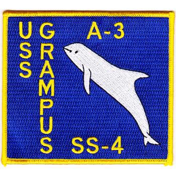 A-3 SS-4 USS Grampus Submarine Patch