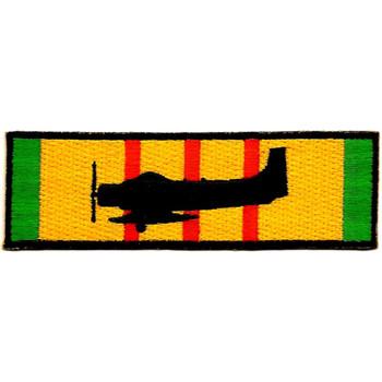 A-1 SPAD Sandy Silhouette On Vietnam Service Ribbon Patch