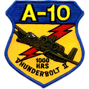 A-10 Thunderbolt II 1000 Hours Patch