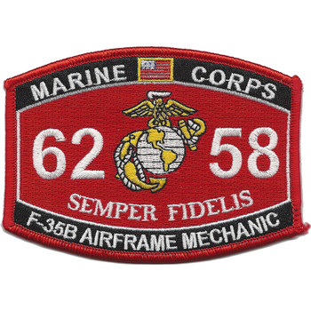 6258 F-35B Airframe Mechanic MOS Patch