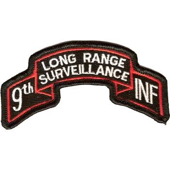 9th Infantry Division Long Range Scroll Patch