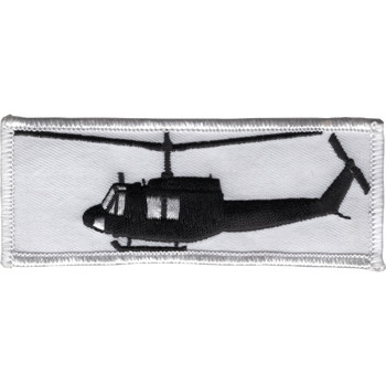 Bell 204 Uh-1B Huey Helicopter Silhouette On Patch5878