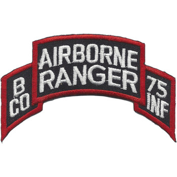 B Company 75th Infantry Airborne Rangers Patch Scroll