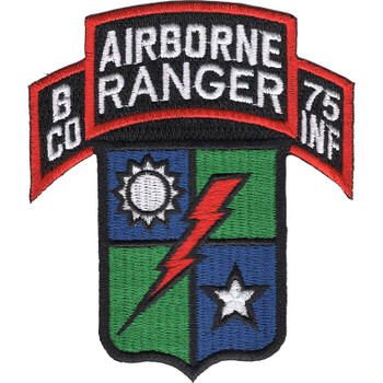 B Company 75th Airborne Ranger Regiment Patch