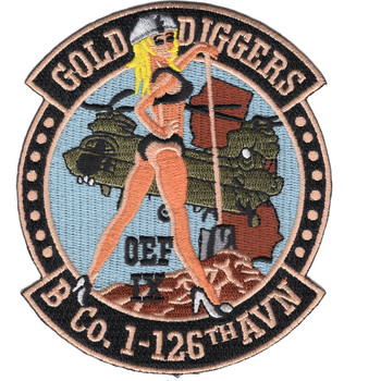 B Company 1-126th Aviation Patch Gold Diggers