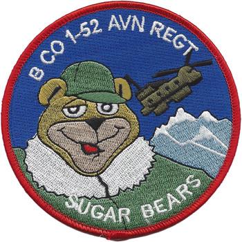 B Co 1st Battalion 52nd Aviation Regiment Surgar Bears Patch