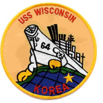 BB-64 USS Wisconsin Patch Korea