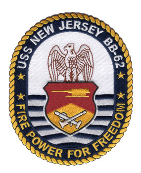 BB-62 USS New Jersey Patch