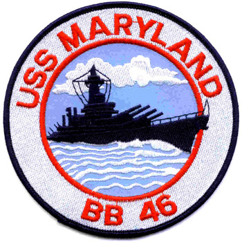 BB-46 USS Maryland Patch