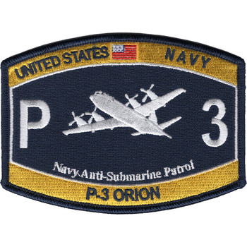 Aviation Rating P-3 Orion Navy Anti-Submarine Patrol Patch Rating