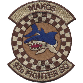 93rd Fighter Squadron Desert Patch