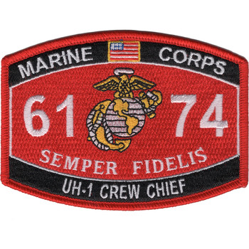6174 UH-1 Crew Chief MOS Patch