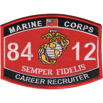 8412 Career Recruiter MOS Patch