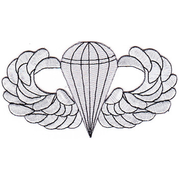 Airborne Basic Jump Wings Badge Patch