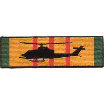 AH-1J Silhouette On Vietnam Service Ribbon Patch