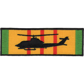 AH-1G Cobra Silhouette On Vietnam Service Ribbon Patch