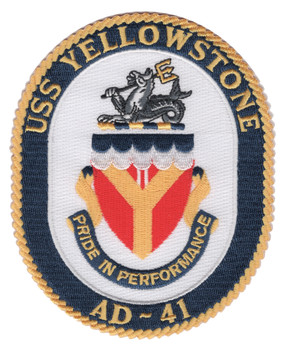 AD-41 USS Yellowstone Patch