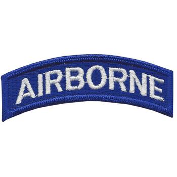 Army Airborne Rocker Blue Field Patch