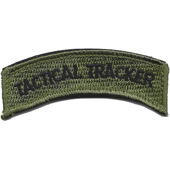 Armed Forces, Sheriffs And Police Tactical Tracker Rocker Patch Hook And Loop