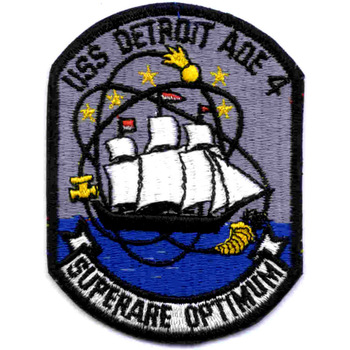 AOE-4 USS Detroit Fast Attack Combat Ship Patch