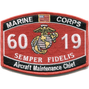 6019 Aircraft Maintenance Chief MOS Marine patch