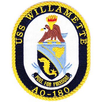 AO-180 USS Willamette Fleet Oiler Patch