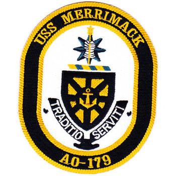 AO-179 USS Merrimack Fleet Oiler Patch