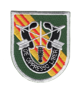 5th Special Forces Group Vietnam Flash with Crest Patch