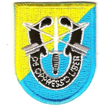8th Special Forces Group Flash With Crest Large Patch