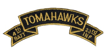 4th Mechanized Battalion 23rd Infantry Regiment Tomahawks Scroll Patch