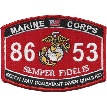 8653 Reconnaissance Man Combatant Diver Qualified Patch