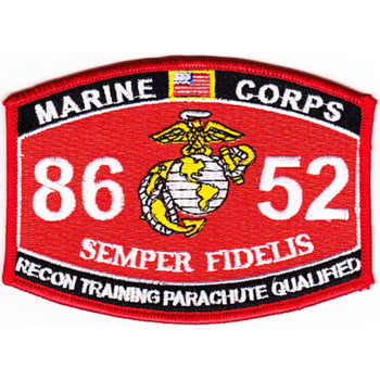 8652 Recon Training Parachute Qualified MOS Patch