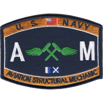 AM Aviation Structural Mechanic Naval Rating Patch